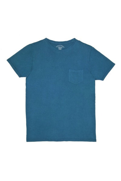 Threads 4 Thought Solid Crew Neck Organic Cotton Pocket Tee Indian Teal
