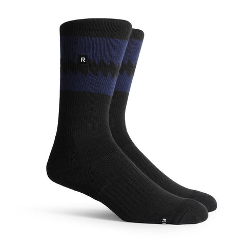 Richer Poorer Crossover Black Navy Athletic Socks