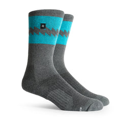 Richer Poorer Crossover Charcoal Cyan Athletic Socks