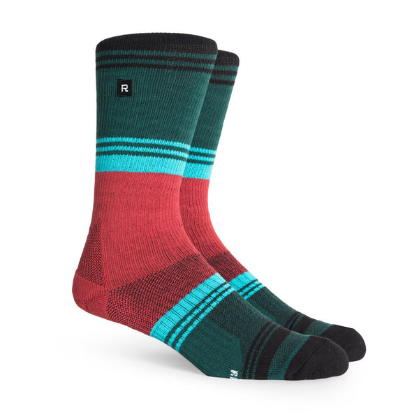 Richer Poorer Expressionist Black Green Athletic Socks