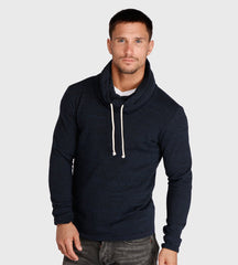 Threads 4 Thought Oversized Funnel Neck Sweatshirt Midnight Blue