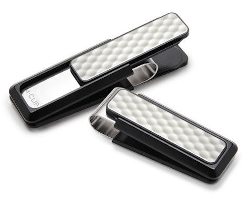 M-Clip Black Anodized with White Golf Ball Inlay Money Clip