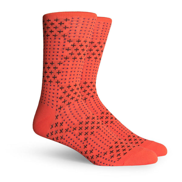 Richer Poorer Heller Red Checkered Polka Dot Socks