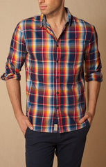 JACHS NY Bright Plaid Shirt