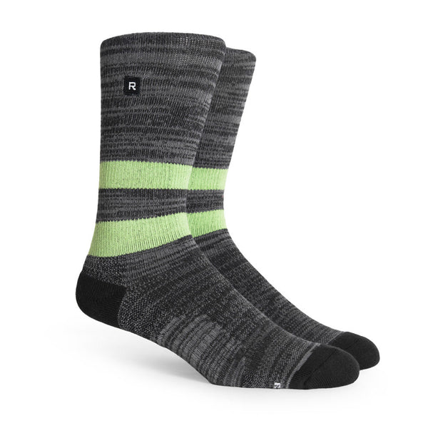 Richer Poorer Leon Charcoal Lime Athletic Socks