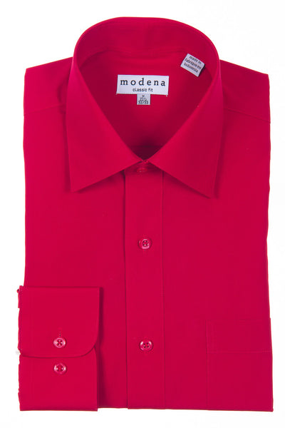 Modena Basic Dress Shirt Red