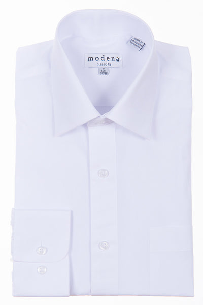 Modena Big and Tall Dress Shirt White