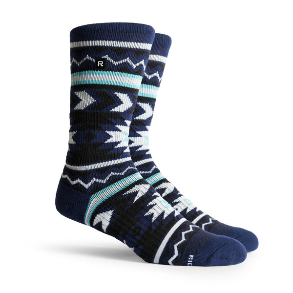 Richer Poorer Metric Navy White Athletic Socks