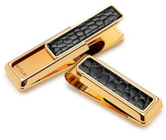M-Clip New Yorker Gold w Black Alligator Inlay Money Clip