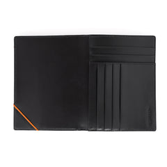 Wurkin Stiffs RFID Blocking Passport Wallet Black Orange
