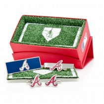 Atlanta Braves Officially Licensed Cufflinks Money Clip Tie Bar Gift Set