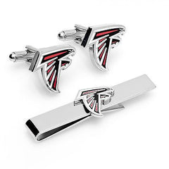 Atlanta Falcons Officially Licensed Cufflinks Tie Bar Gift Set