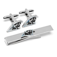 Carolina Panthers Officially Licensed Cufflinks Tie Bar Gift Set