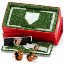 Baltimore Orioles Officially Licensed Cufflinks Money Clip Tie Bar Gift Set
