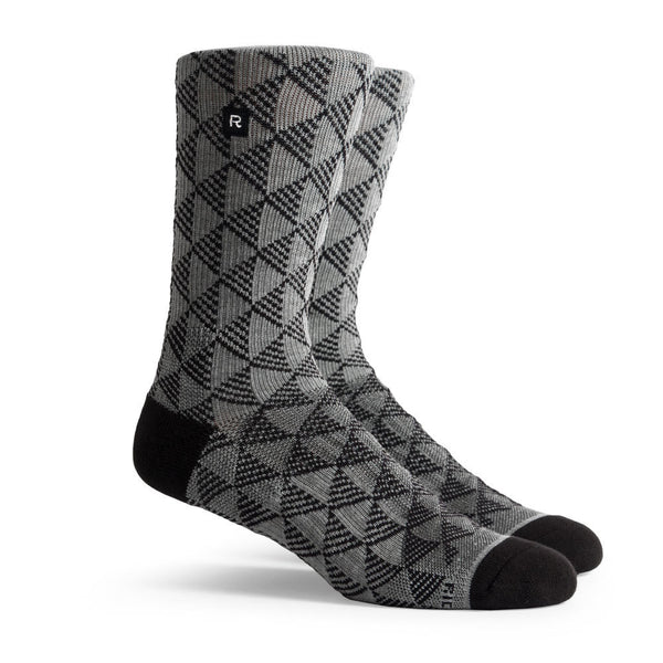 Richer Poorer Pyramids Athletic Socks Heather Grey