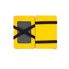 Wurkin Stiffs Slim RFID Blocking Magic Wallet Black Yellow