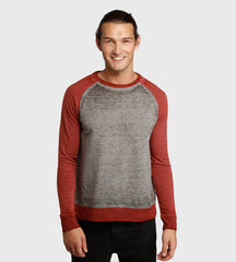 Threads 4 Thought Raglan Sweatshirt Heather Grey/Biking Red