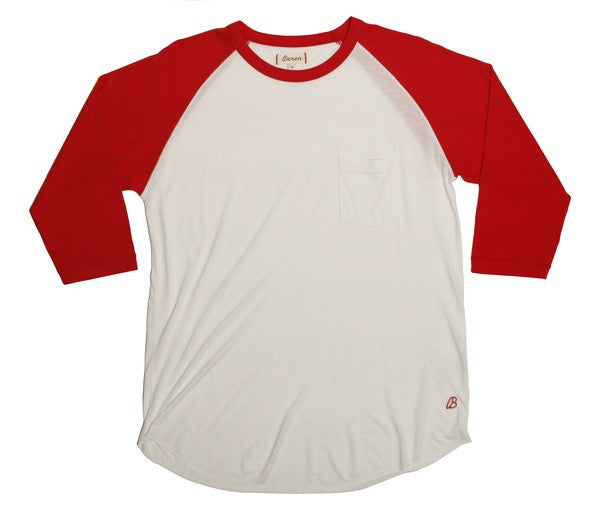 Beren LA Long Sleeve Baseball Tee Red