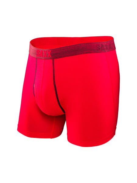 Saxx Platinum Boxer with Fly Red/Dark Gray