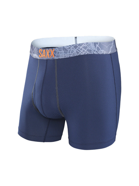 Saxx Quest 2.0 Modern Fit w Fly Boxer Navy Charcoal