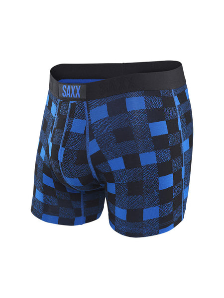 Saxx Vibe Boxer Royal Lumberjack Plaid