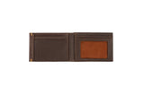 Wurkin Stiffs Slim RFID Blocking Brushed Leather Wallet Brown