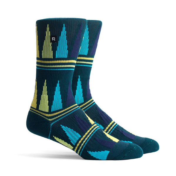 Richer Poorer Swindler Green Athletic Socks
