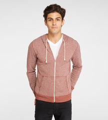 Threads 4 Thought Thermal Zip Front Hoodie Biking Red