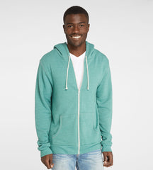 Threads 4 Thought Triblend Zip Front Hoodie Silver Pine