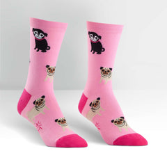 Sock It To Me Pink Pugs Socks