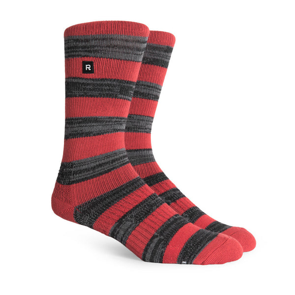 Richer Poorer Walk On Athletic Socks Red/Charcoal