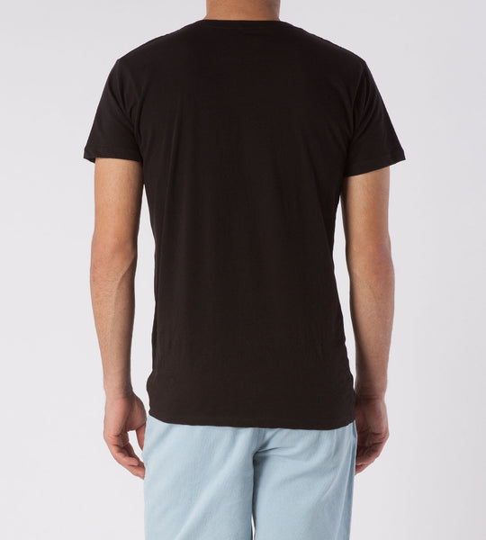 Threads 4 Thought Solid V-Neck Organic Cotton Tee Black