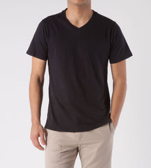 Threads 4 Thought Solid V-Neck Organic Cotton Tee Carbon