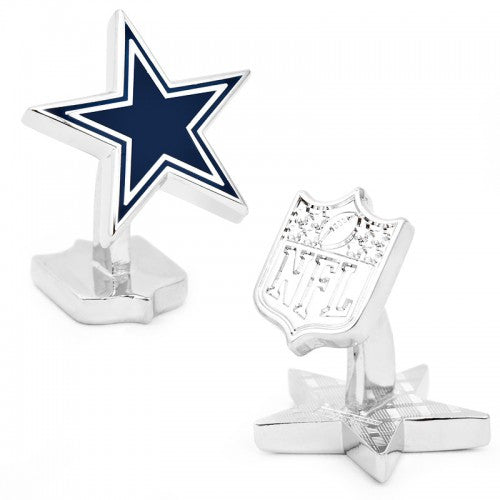 Dallas Cowboys Palladium Officially Licensed Cufflinks with Gift Box