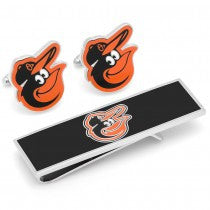 Baltimore Orioles Officially Licensed Cufflinks Money Clip Gift Set