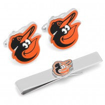 Baltimore Orioles Officially Licensed Cufflinks Tie Bar Gift Set