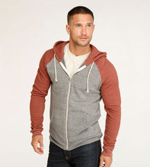 Threads 4 Thought Malibu Zip Front Hoodie Heather Gray Syrah
