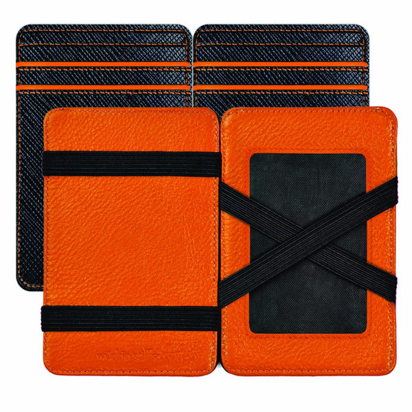 Wurkin Stiffs Slim RFID Blocking Magic Wallet Black Orange