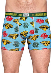 Happy Socks Limited Edition Billionaire Boys Club Collaboration Boxer Briefs Diamonds and Dollars