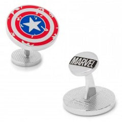 Marvel Captain America Distressed Shield Cufflinks Officially Licensed