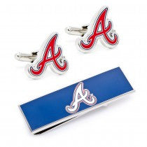 Atlanta Braves Officially Licensed Cufflinks Money Clip Gift Set