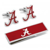 Alabama Crimson Tide Officially Licensed Cufflinks Money Clip Gift Set
