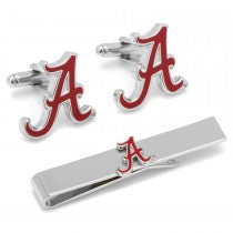 Alabama Crimson Tide Officially Licensed Cufflinks Tie Bar Gift Set
