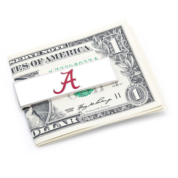 Alabama Crimson Tide Officially Licensed Cufflinks Money Clip Tie Bar Gift Set