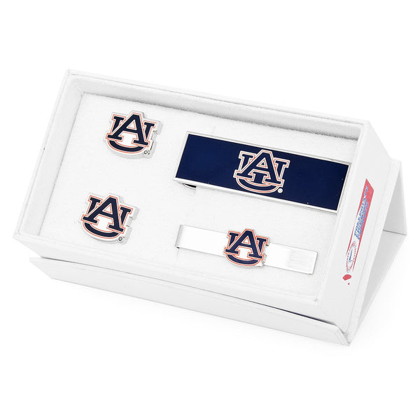 Auburn University Tigers Officially Licensed Cufflinks Money Clip Tie Bar Gift Set