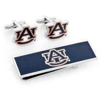 Auburn Tigers Officially Licensed Cufflinks Money Clip Gift Set