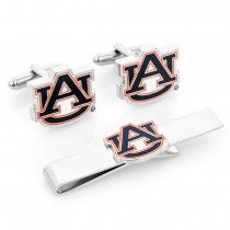 Auburn Tigers Officially Licensed Cufflinks Tie Bar Gift Set