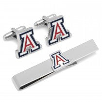 Arizona Wildcats Officially Licensed Cufflinks Tie Bar Gift Set