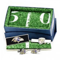 Baltimore Ravens Officially Licensed Cufflinks Money Clip Tie Bar Gift Set