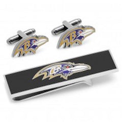 Baltimore Ravens Officially Licensed Ravens Head Cufflinks Money Clip Gift Set